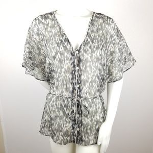 Converse One Star Top Large Sheer Short Sleeve